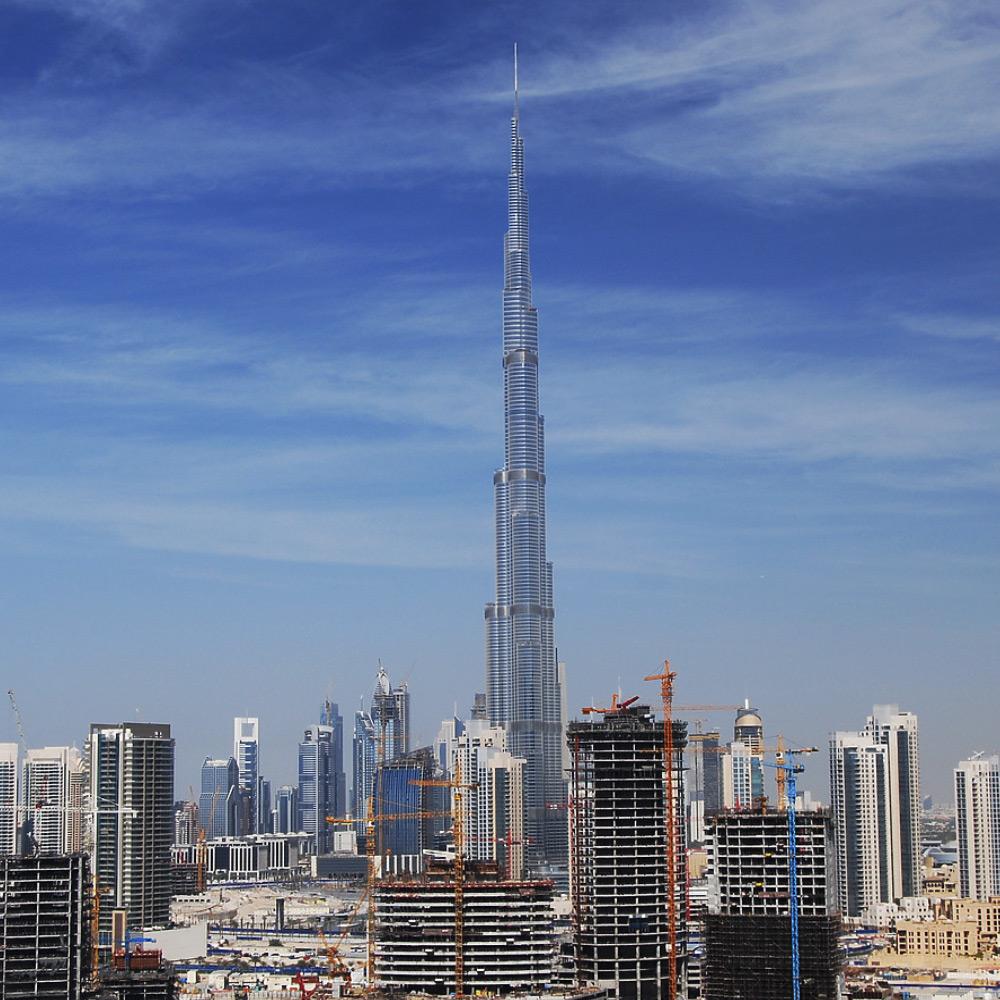 Burj Khalifa in Dubai - the tallest skyscraper worldwide